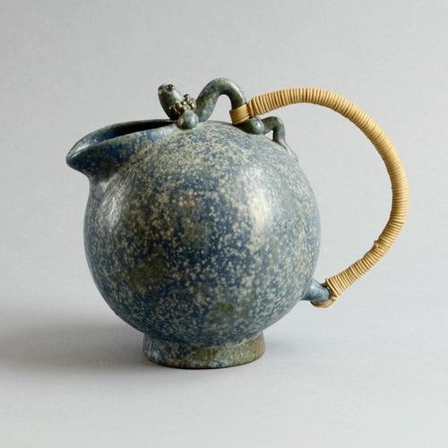 Teapot  with wicker handle by Arne Bang A1478