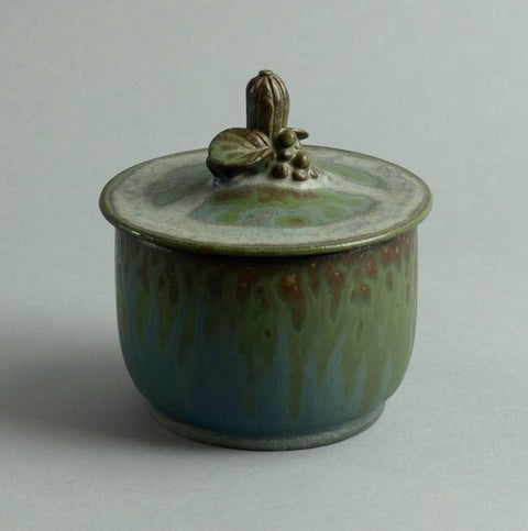 Stoneware lidded jar by Arne Bang