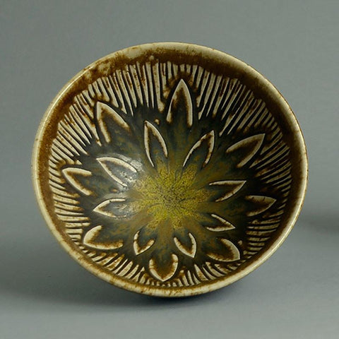 Bowl with Solfatara Glaze by Gerd Bogelund