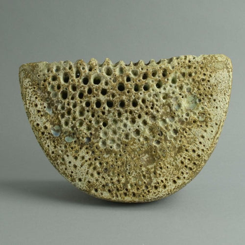 Unique stoneware sculptural form by Alan Wallwork A1718