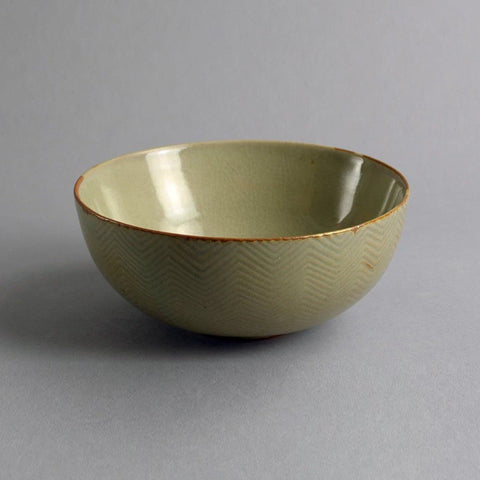 Axel Salto for Royal Copenhagen, bowl with celadon glaze