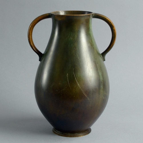 Bronze handled vase by Just Andersen for GAB A1740