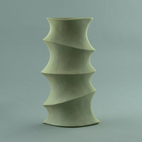 Frank Schillo, stoneware sculptural vase with white glaze