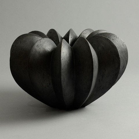 Joachim Lambrecht pod form raku vessel for sale