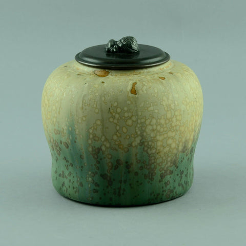Patrick Nordstrom and Carl Halier, jar with bronze lid for Royal Copenhagen