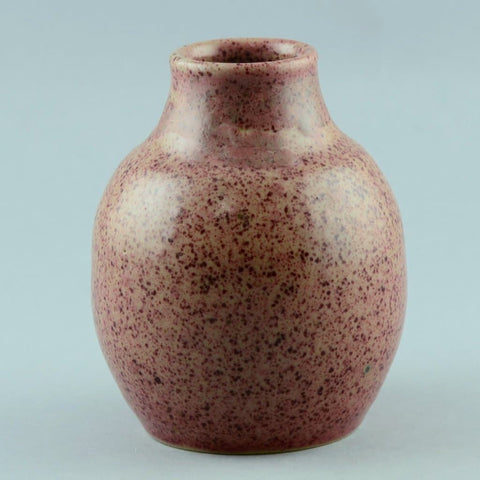 Lauritz Hjorth, unique stoneware vase with pink and red glaze