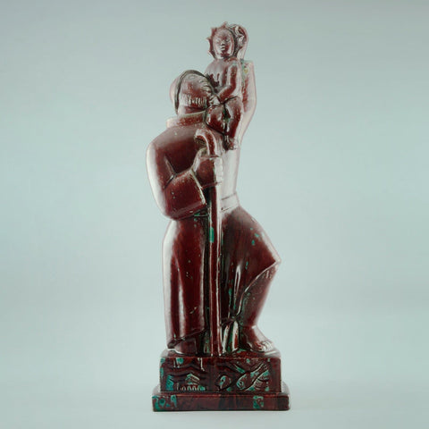 """St. Christopher "" oxblood sculpture by Jais Nielsen for Royal Copenhagen"
