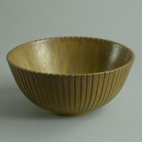 Fluted stoneware bowl by Arne Bang