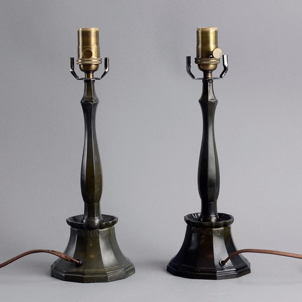 Pair of lamps in disko metal by Just Andersen