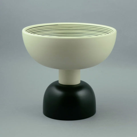 "9"" tall ""Memphis"" footed bowl by Ettore Sottsass for sale"
