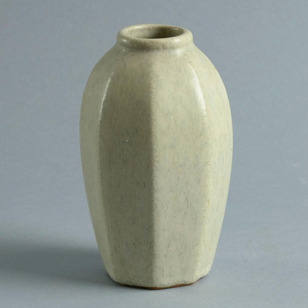 Stoneware vase with matte cream glaze by Arne Bang