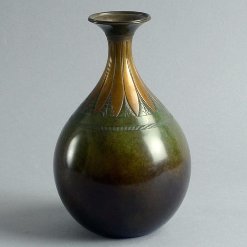 Bronze vase, 1930s by Just Andersen A1855