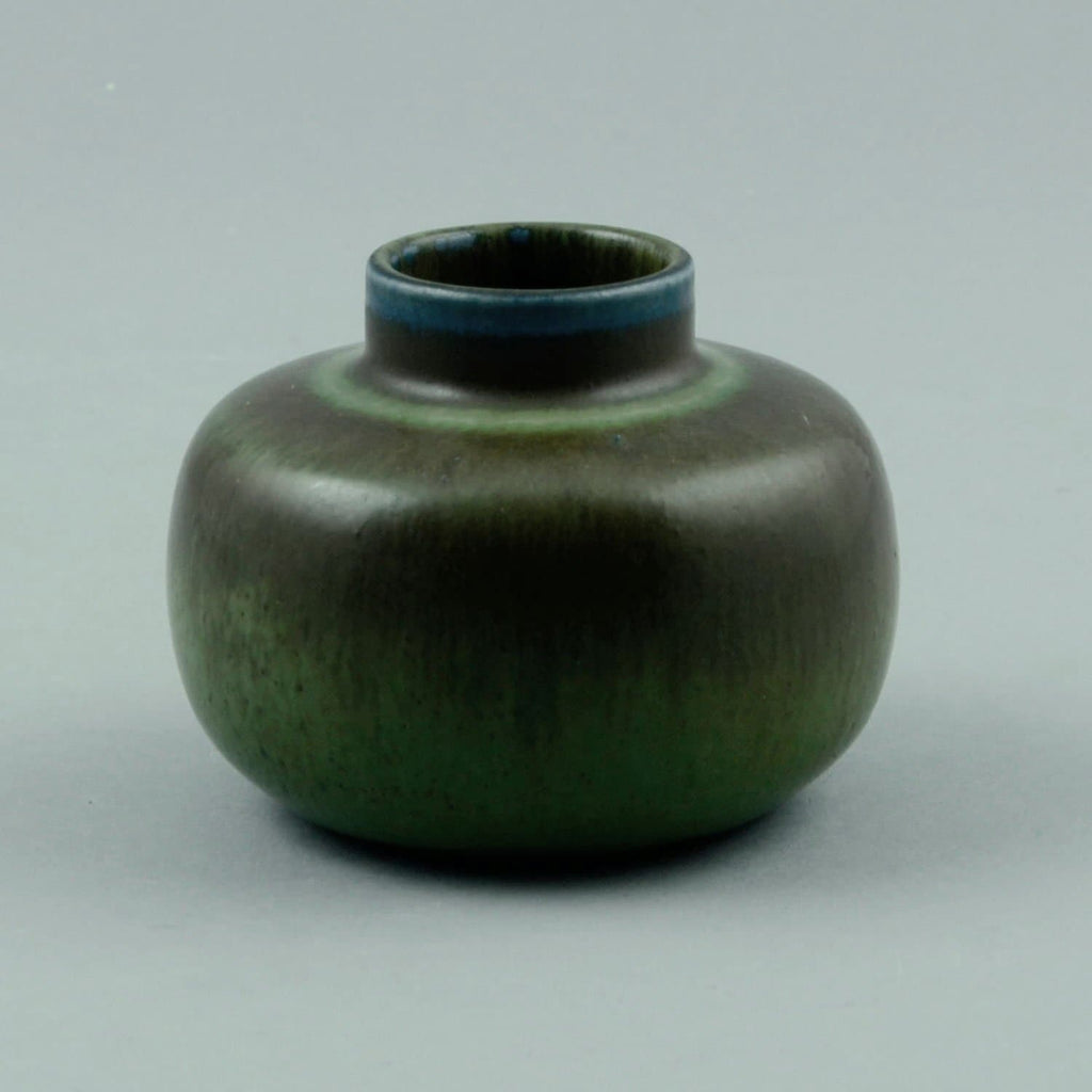Carl Harry Stalhane  for Rorstrand vase with blue and green glaze C5407