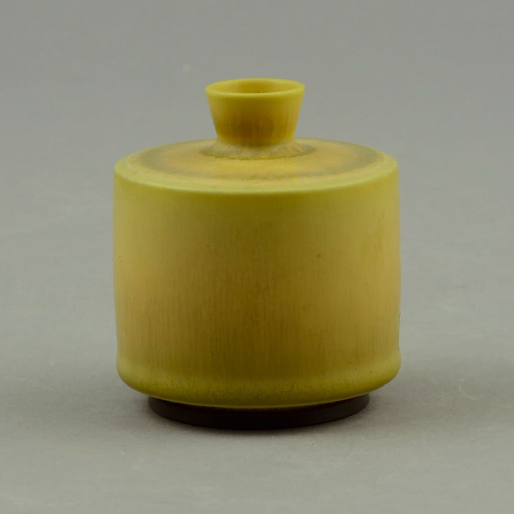 Berndt Friberg for Gustavsberg, Unique cabinet vase with pale yellow glaze
