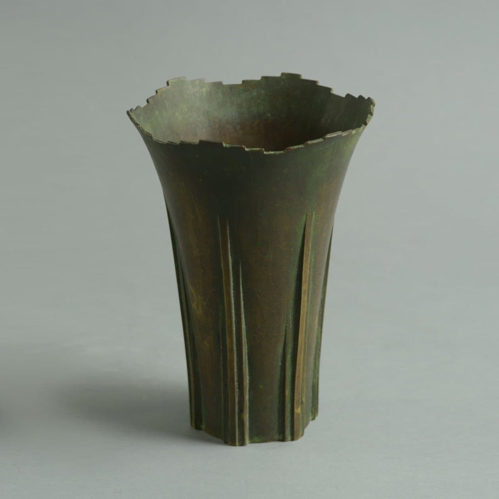 Bronze vase by Thorild Knuttson