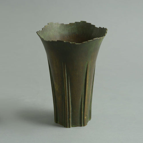 Bronze vase by Thorild Knuttson A1889