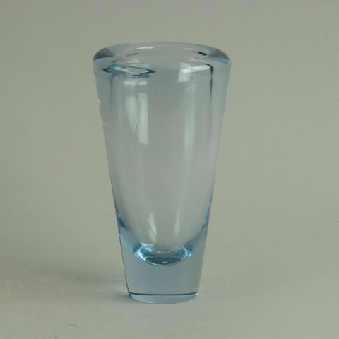 Conical vase in pale blue glass by Holmegaard N7532