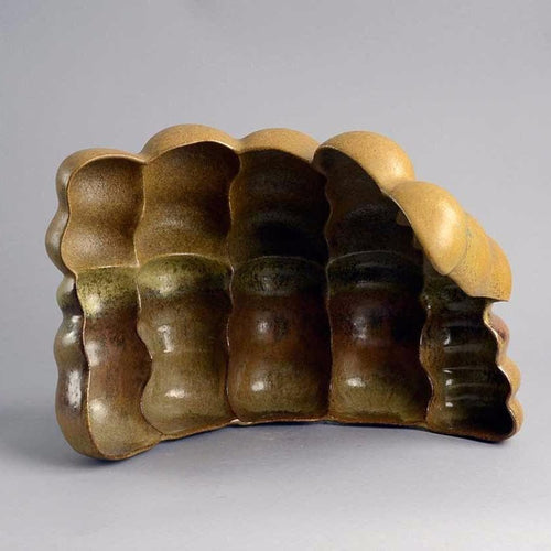 Unique stoneware sculptural form by Beate Kuhn B3442