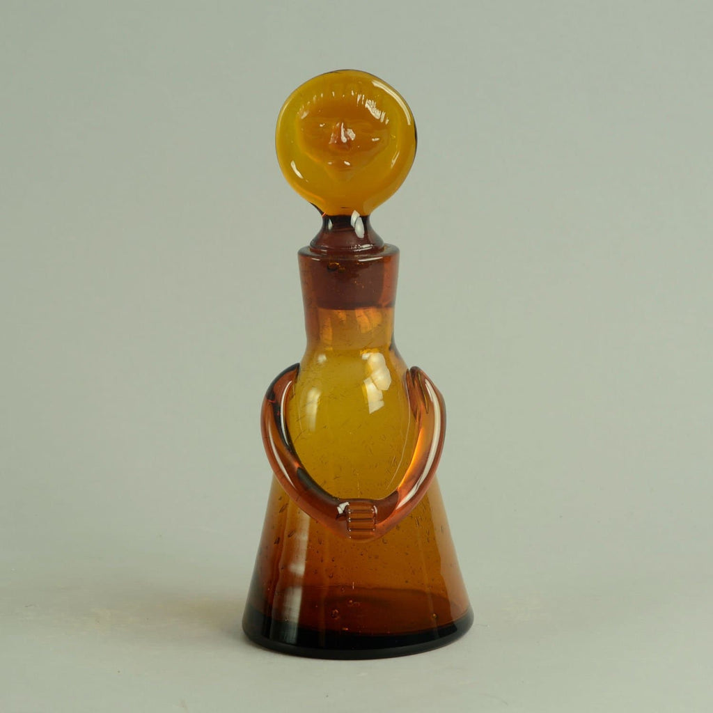 Erik Hoglund for Boda Åfors, Sweden   Decanter in amber  glass