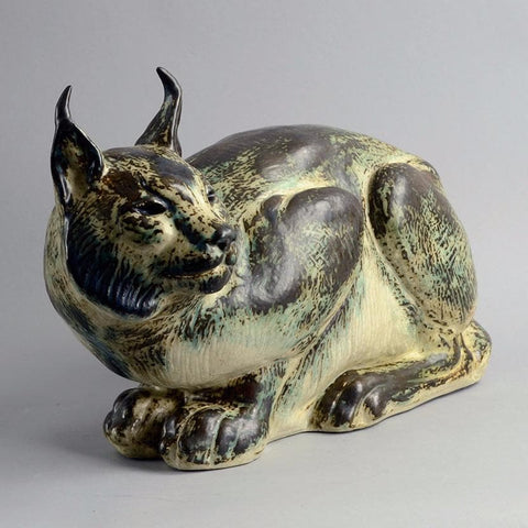 Stoneware Lynx by Karl Larsen for Royal Copenhagen