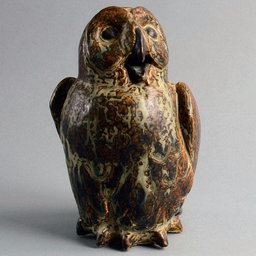 Sculpture of Owl by Knud Kyhn for Royal Copenhagen