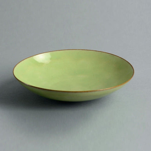Small bowl with green glaze by Gertrud and Otto Natzler