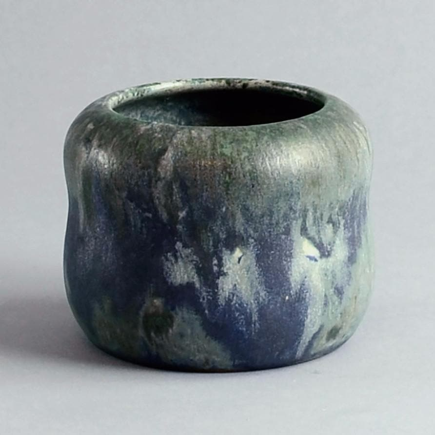 Stoneware vase by Patrick Nordstrom for Royal Copenhagen