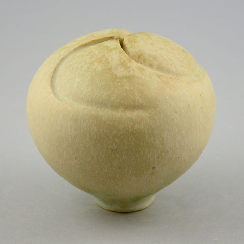 Otto Meier sculptural vase for sale with cream glaze