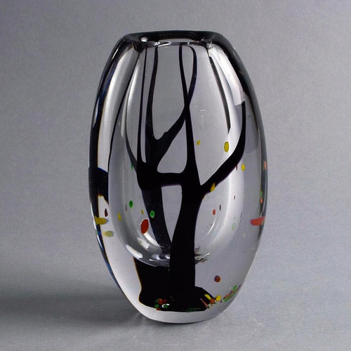 Glass vase by Vicke Lindstrand for Kosta A2049
