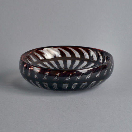 Glass ariel bowl by Edvin Ohrstrom for Orrefors