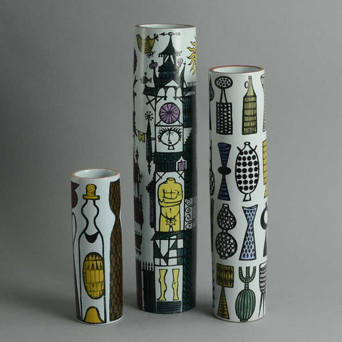 "Three ""Karneval"" vases by Stig Lindberg"