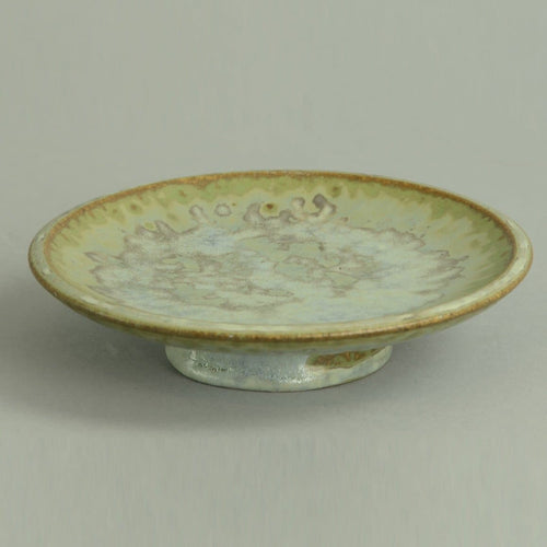 Small dish with crystalline glaze by Arne Bang