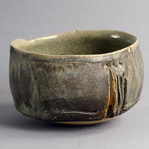 Unique stoneware bowl by Claude Champy