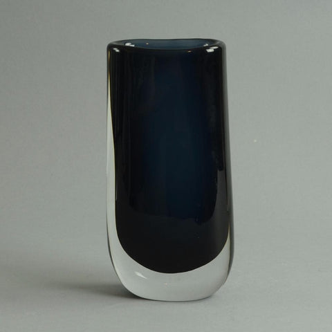 Glass vase by Nils Landberg for Orrefors