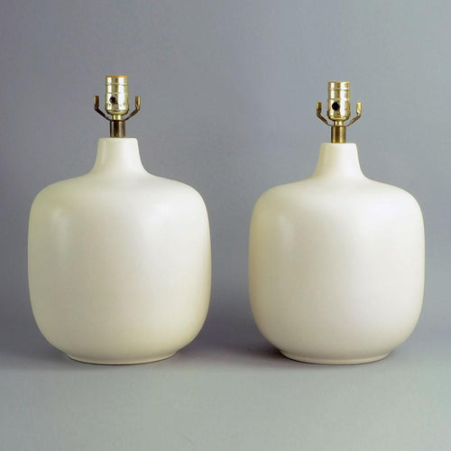 Pair of  large stoneware lamps by Lotte Bostlund