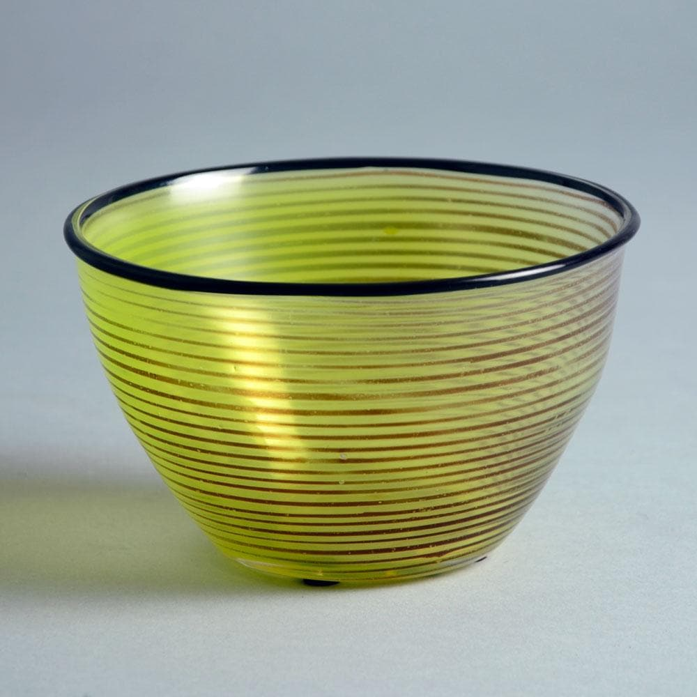 """Slip graal"" glass bowl by Edward Hald for Orrefors N2625"