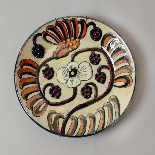 Unique stoneware plate by Birger Kaipiainen B3774