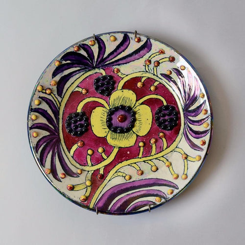 Unique stoneware plate by Birger Kaipiainen for Arabia