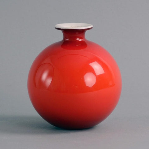 "Red glass ""Carnaby"" vase by Per Lutken and Michael Bang for Holmegaard"