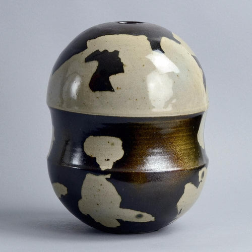 Unique stoneware vessel by Reinhold Rieckmann B3420