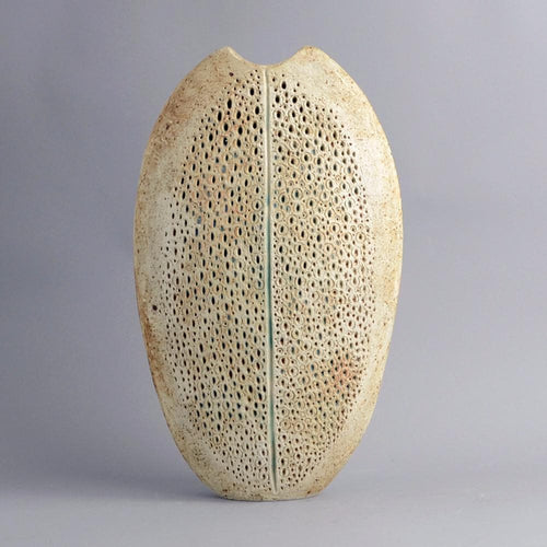 Unique stoneware sculptural form by Alan Wallwork A1702