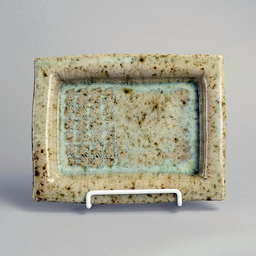 Stoneware dish by Conny Walther N2376