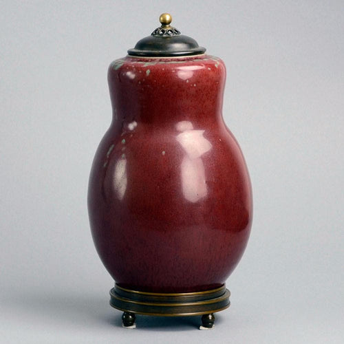 Oxblood jar by Carl Halier for Royal Copenhagen,