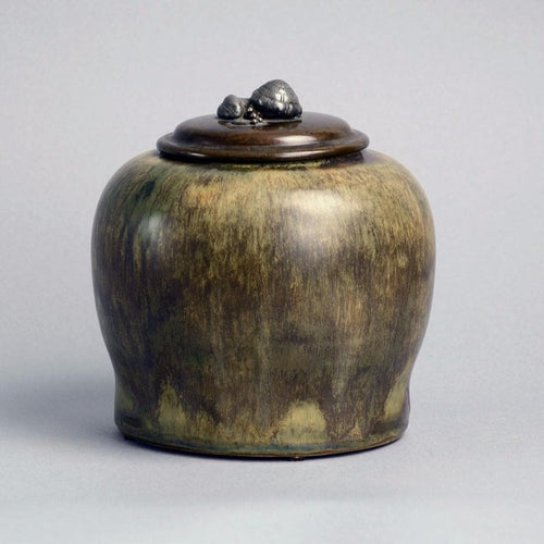 Lidded jar by Carl Halier for Royal Copenhagen, Denmark N8194
