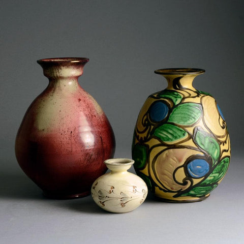 Group of vases by Herman A. Kahler Keramik