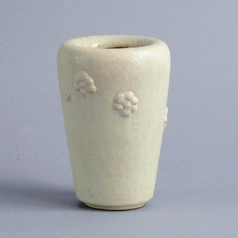 Stoneware vase with rosettes by Arne Bang
