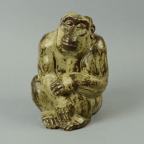 Sculpture of Baboon by Knud Kyhn for Royal Copenhagen N9849