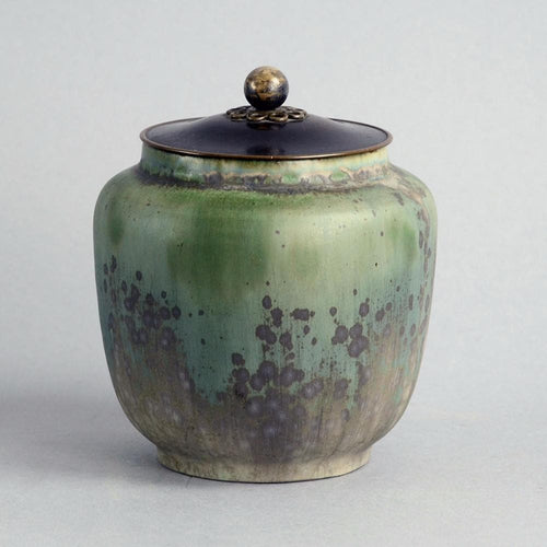 Lidded jar by Carl Halier for Royal Copenhagen B3889
