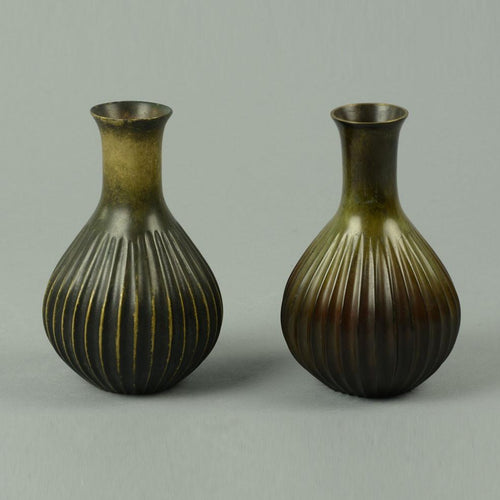 Bronze ribbed vase by Just Andersen A1259