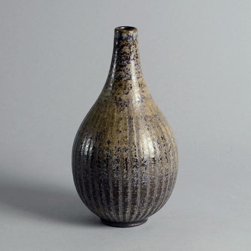 Stoneware teardrop shaped vase by  Wallåkra Stenkarlsfabrik N3397